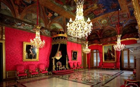 La Salle du Trône du Palais Princier . Sélection de photographie pour le site web palais.mc.